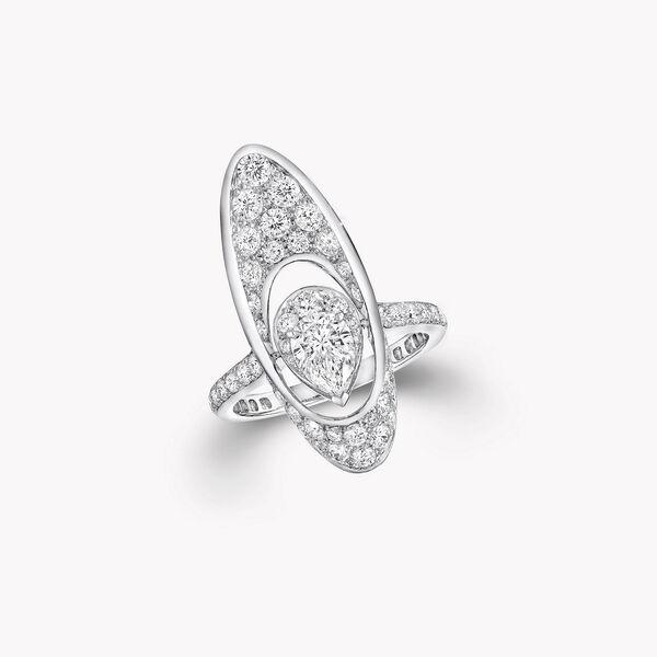 Bague avec diamant taille poire motif Portail Graff, , hi-res