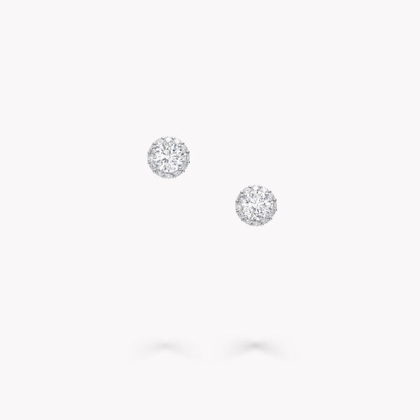 Clous d'oreilles ronds en diamants Icon, , hi-res