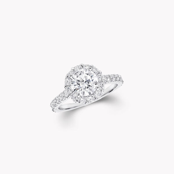 Icon Round Diamond Engagement Ring, , hi-res