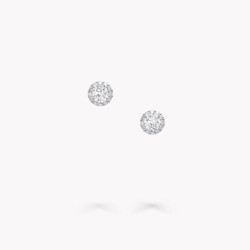 Clous d'oreilles ronds en diamants Icon, , hi-res