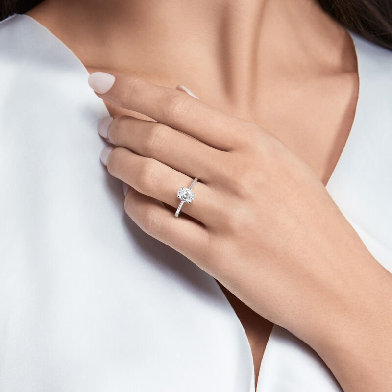 Paragon Oval Diamond Engagement Ring, , hi-res