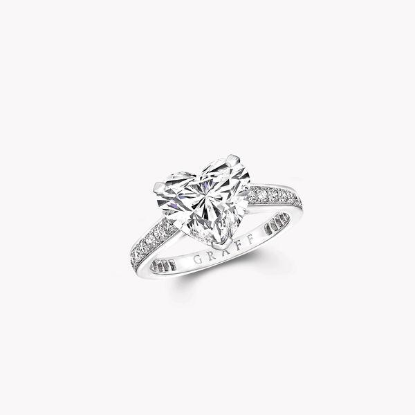 Flame心形鑽石訂婚戒指, , hi-res