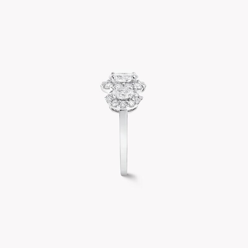 Icon Three Stone Oval Diamond Engagement Ring, , hi-res