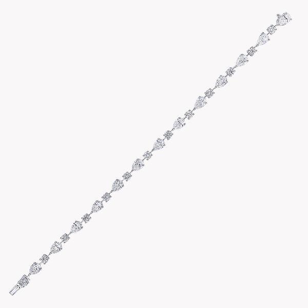 マルチシェイプ ダイヤモンド ブレスレット, , hi-res