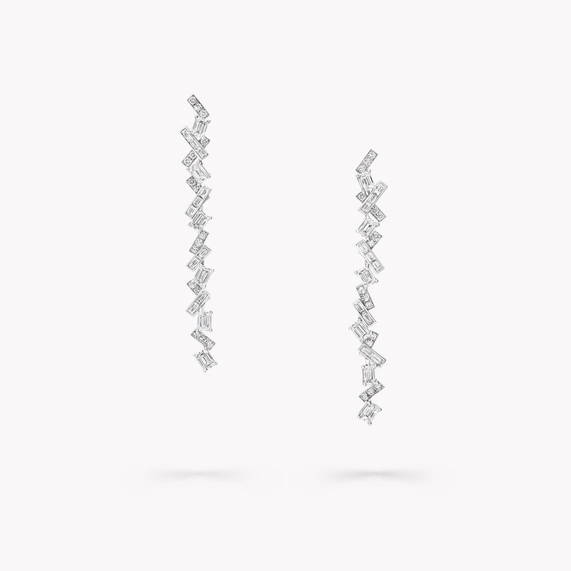 Boucles d'oreilles « goutte » en diamants Threads, , hi-res