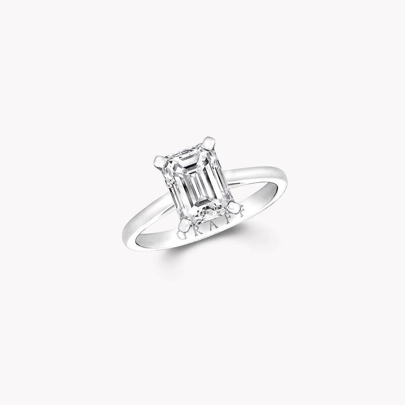 Bague de fiançailles en diamants taille émeraude Paragon, , hi-res