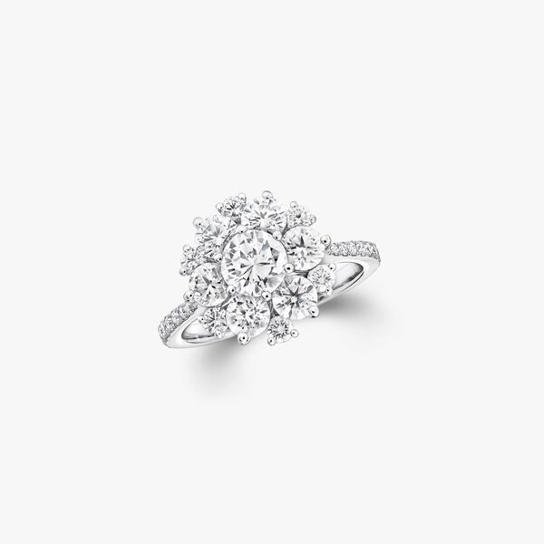 Round Diamond Cluster Ring, , hi-res