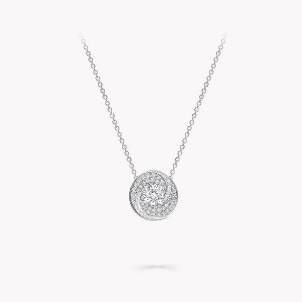 Swirl Round Diamond Pendant, , hi-res
