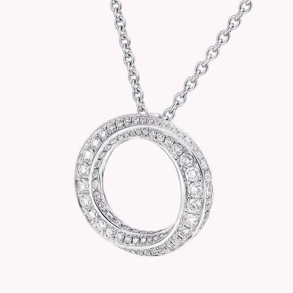 Spiral Pavé Diamond Pendant, , hi-res