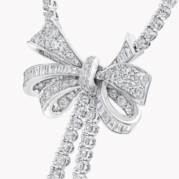 Collier en diamants ronds double brin Tilda's Bow, , hi-res