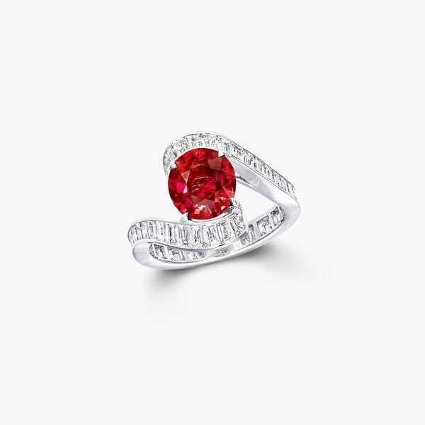 Oval Ruby High Jewellery Ring, , hi-res