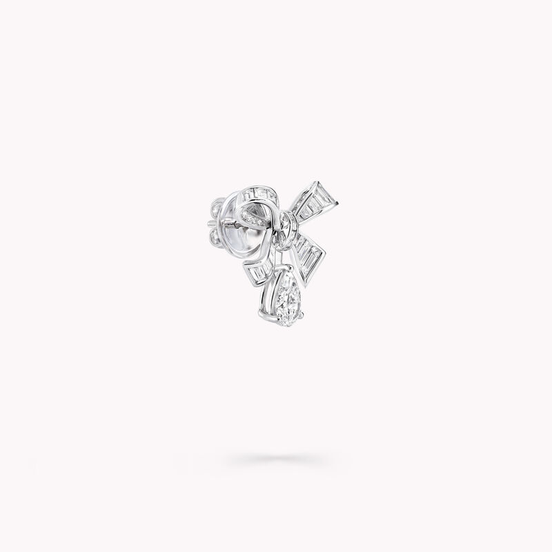 Bow Baguette Cut Diamond Earrings, , hi-res