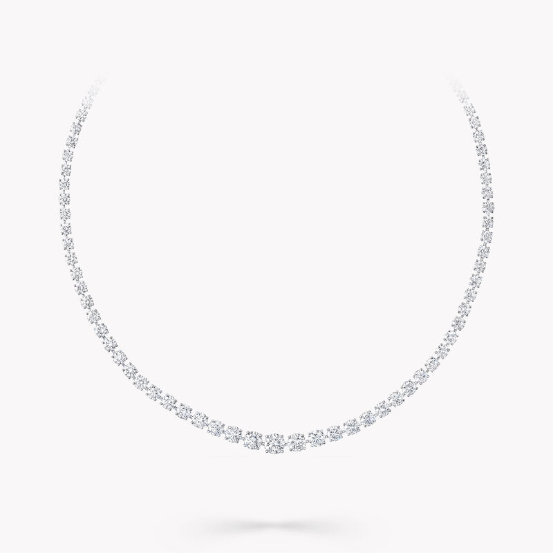 Round Diamond Graduated Necklace, , hi-res