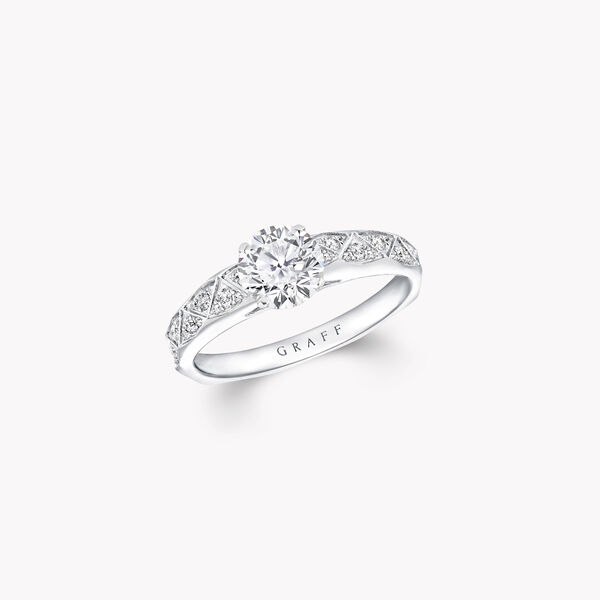 Laurence Graff Signature圓形鑽石訂婚戒指, , hi-res