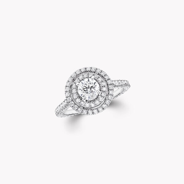 Twin Constellation圓形鑽石訂婚戒指, , hi-res