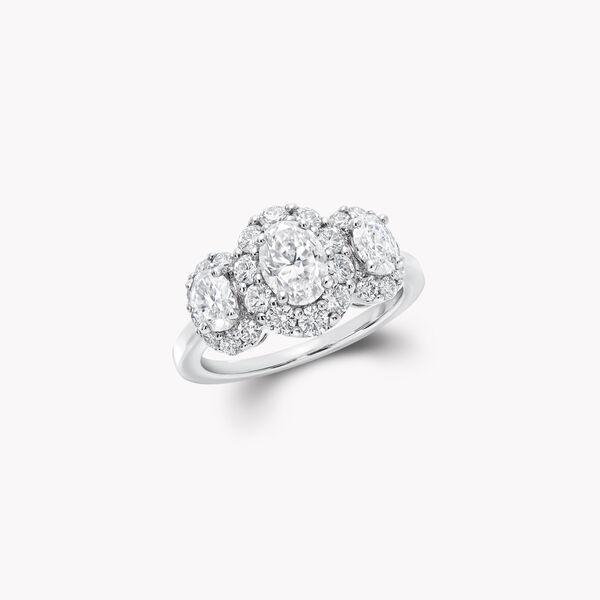 Icon三顆橢圓形鑽石戒指, , hi-res