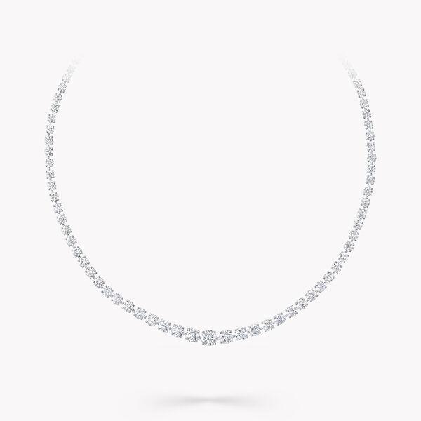 Round Diamond Graduated Necklace, , hi-res