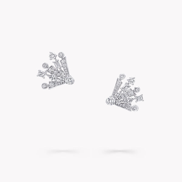 Solar Diamond Mini Stud Earrings, , hi-res