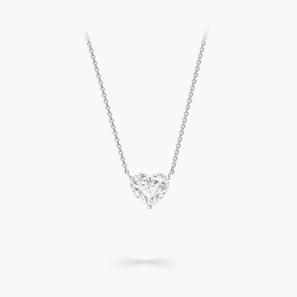 Heart Shape Diamond Pendant, , hi-res