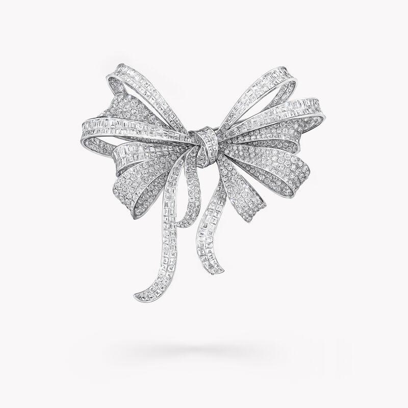 Broche de haute joaillerie en diamants Tilda's Bow, , hi-res