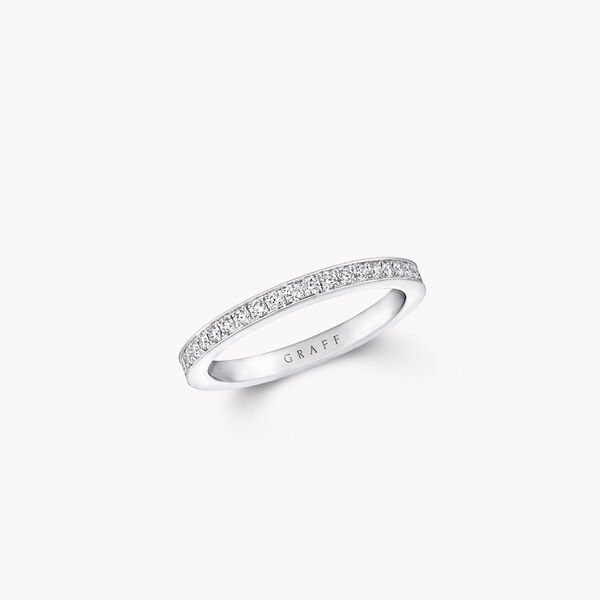 Thread Set Diamond Wedding Band, , hi-res