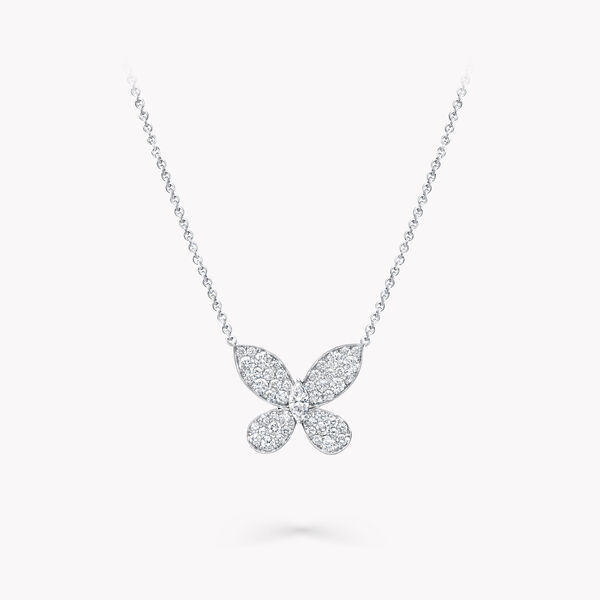 Mini pendentif en diamants Pavé Butterfly, , hi-res