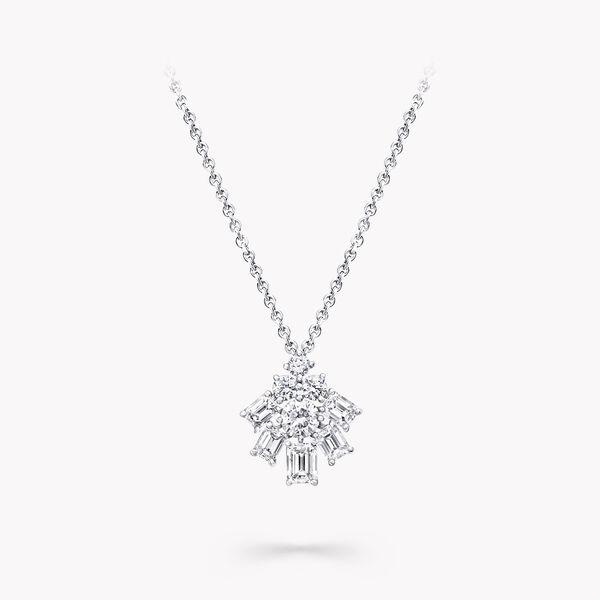 Pendentif en diamants taille émeraude et rond-brillant, , hi-res