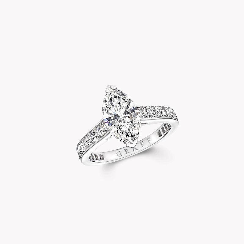Flame Marquise Cut Diamond Engagement Ring, , hi-res