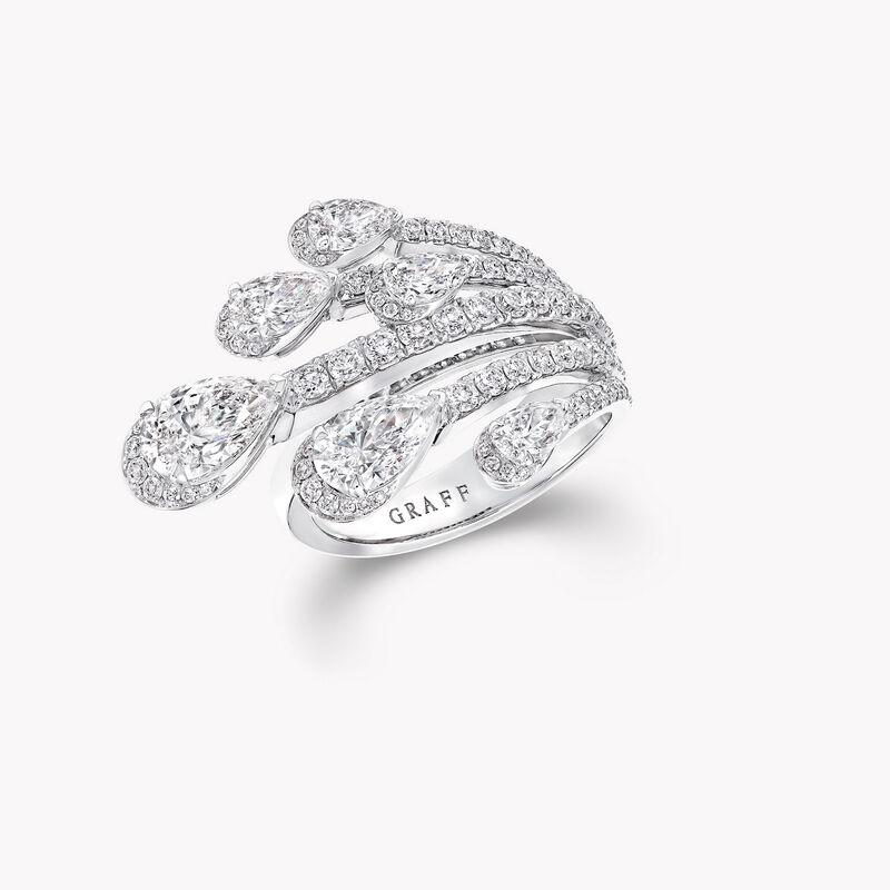 Bague en diamants en forme de poire Duet, , hi-res