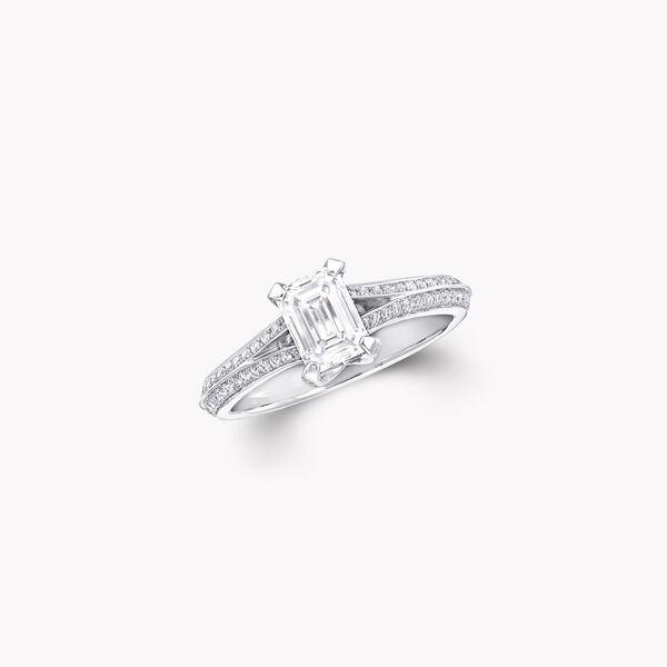 Legacy祖母綠形切割鑽石訂婚戒指, , hi-res