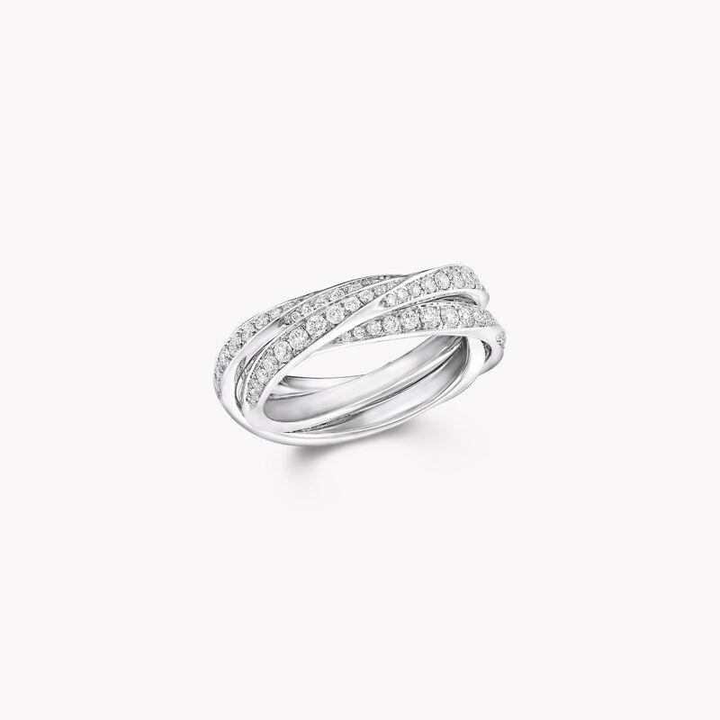 Spiral密鑲鑽石三重奏戒指, , hi-res