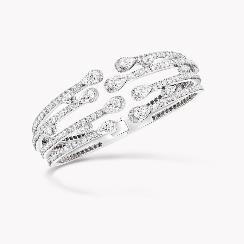 Duet Multi-strand Diamond Bangle, , hi-res