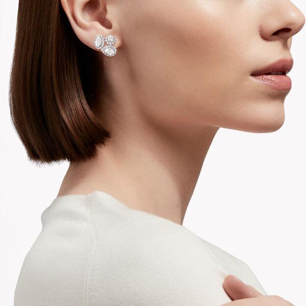 Icon多形切割鑽石耳環, , hi-res