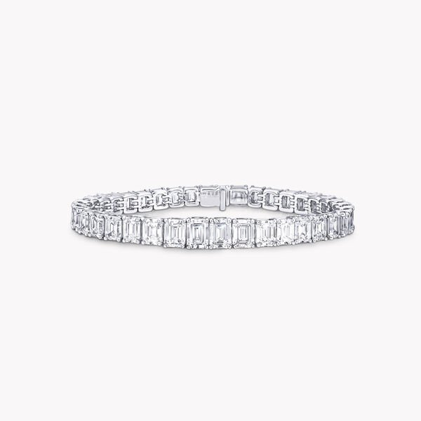 에메랄드 컷 다이아몬드 브레이슬릿, , hi-res