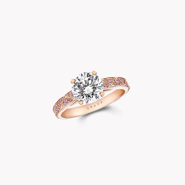 Laurence Graff Signature Round Diamond Engagement Ring, , hi-res
