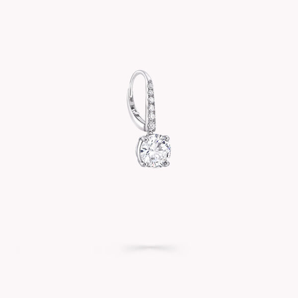 Round Diamond Earrings, , hi-res
