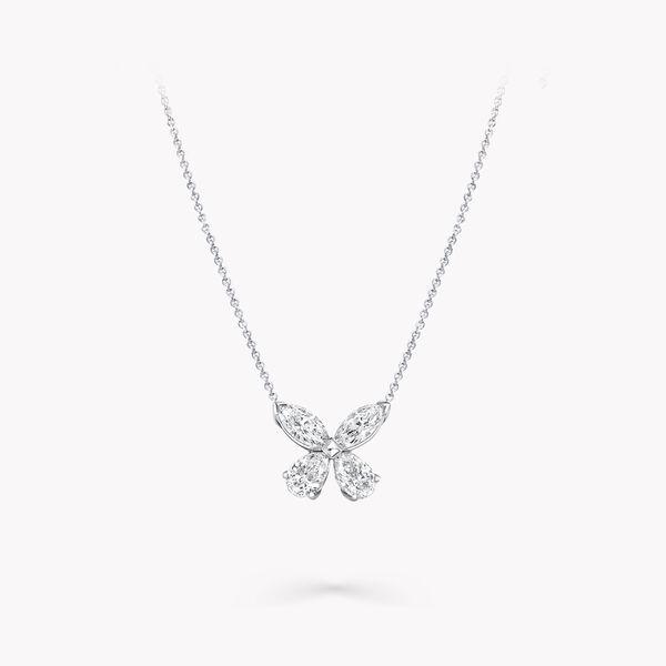 クラシック バタフライ ダイヤモンド ペンダント, , hi-res