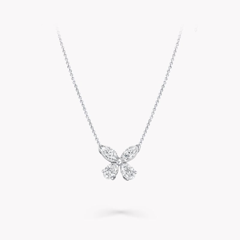 Classic Butterfly Diamond Pendant, , hi-res