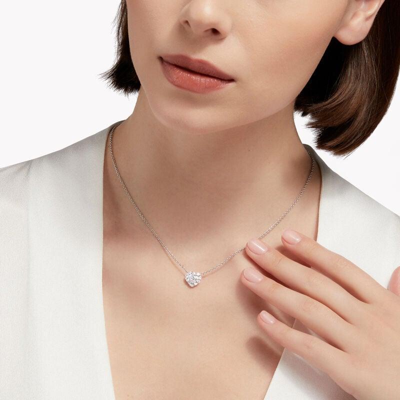 Icon Heart Shape Diamond Pendant, , hi-res