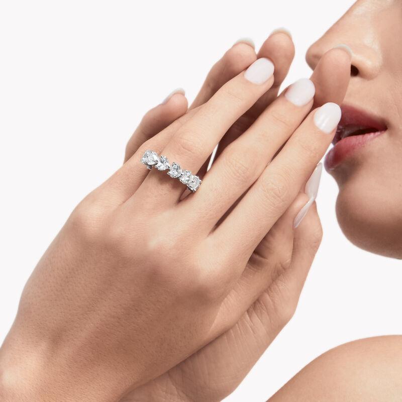 Diamond Wedding Band Ring Heart Shape