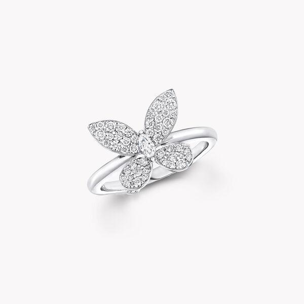 Mini bague en diamants Pavé Butterfly, , hi-res