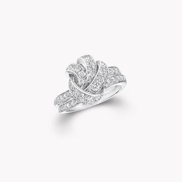 Bague en pavés de diamants Knot, , hi-res