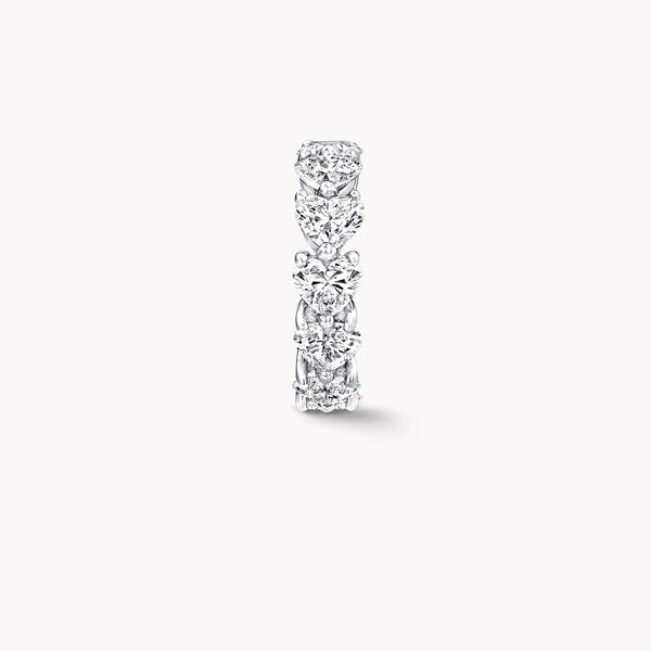 Heart Shape Diamond Wedding Band, , hi-res