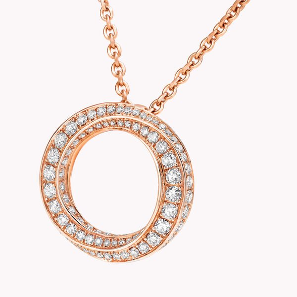 Spiral密鑲鑽石吊墜, , hi-res