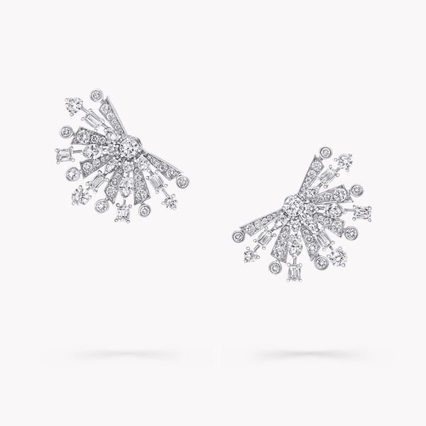 Solar Diamond Small Stud Earrings, , hi-res