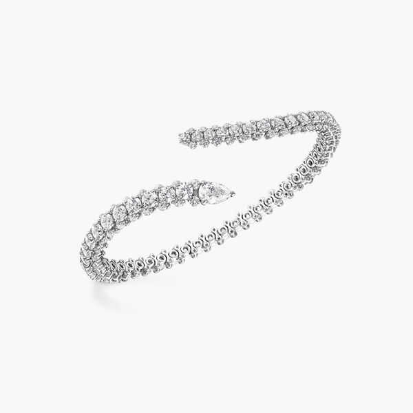 Duet Wraparound Diamond Bangle, , hi-res