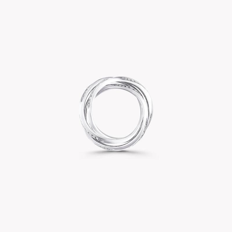 トリプル スパイラル パヴェ ダイヤモンド リング, , hi-res