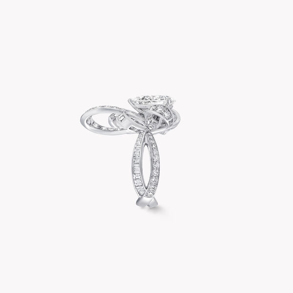 Tilda's Bow Pear Shape Diamond Ring, , hi-res