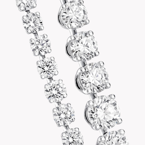 Round Diamond Necklace, , hi-res