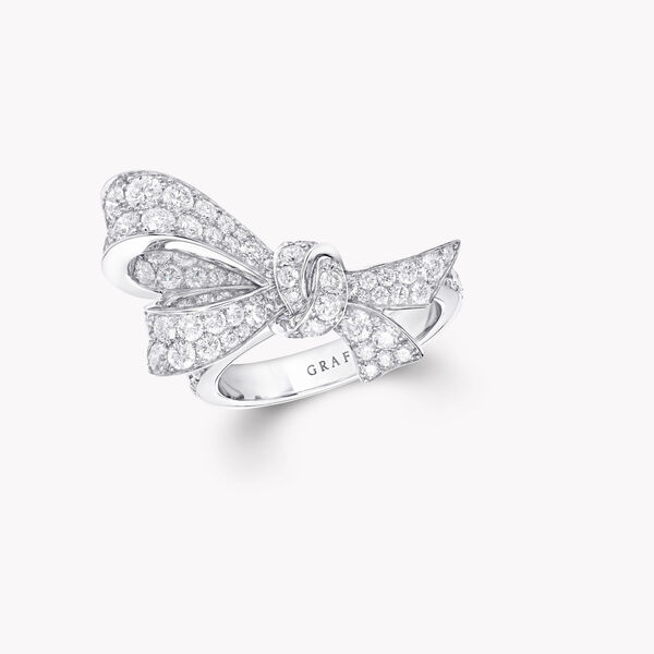 Bow Pavé Diamond Ring, , hi-res